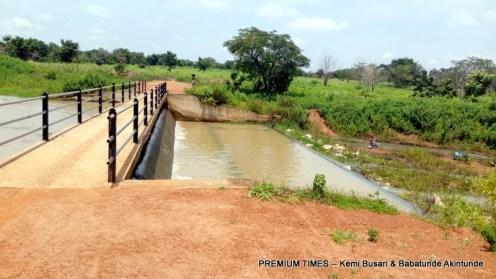 Water impoundment at Malate