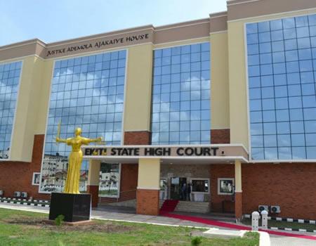 Ekiti State high court used to illustrate the story. [PHOTO CREDIT: Nigerian Tribune]
