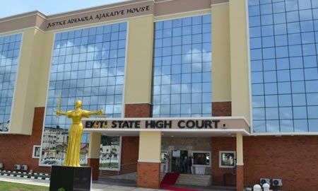 Ekiti State high court used to illustrate the story. [PHOTO CREDIT: Nigerian Tribune]