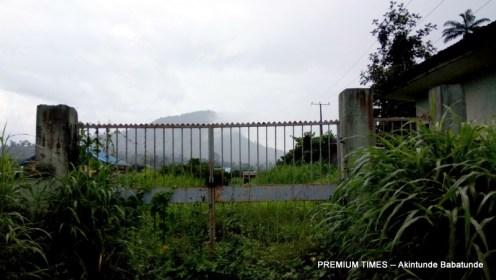Bushy entrance to Ifewara Water supply