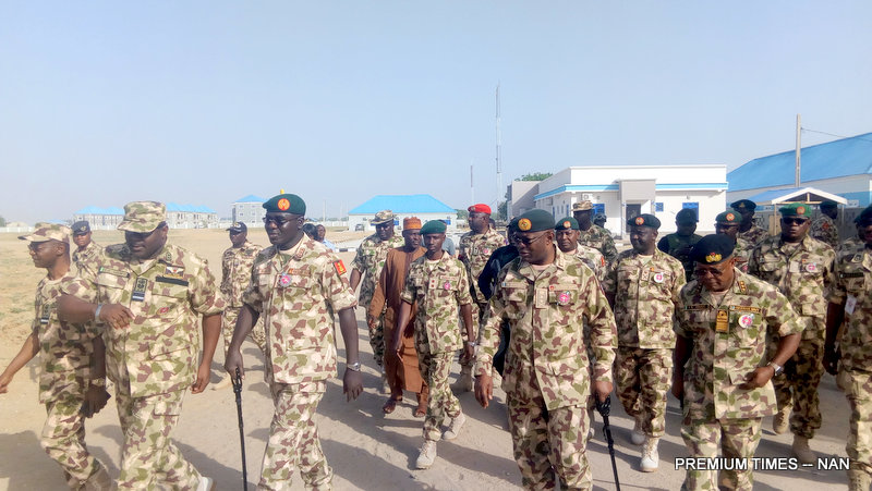 Chief of Defence Staff, Abayomi Olanisakin with other military top chief