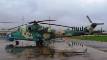 Nigerian Air Force Helicopter.