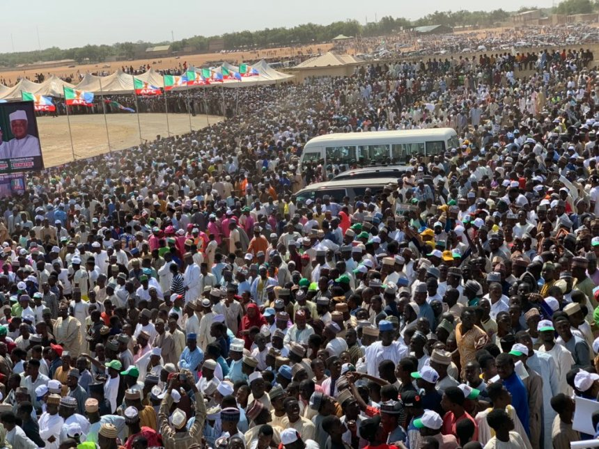 APC Sokoto Presidential rally (photo credit: twitter@Bashir Ahmad)