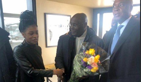 PDP Presidential aspirant, Atiku Abubakar in USA. [PHOTO CREDIT: Official twitter handle of Reno Omokri]