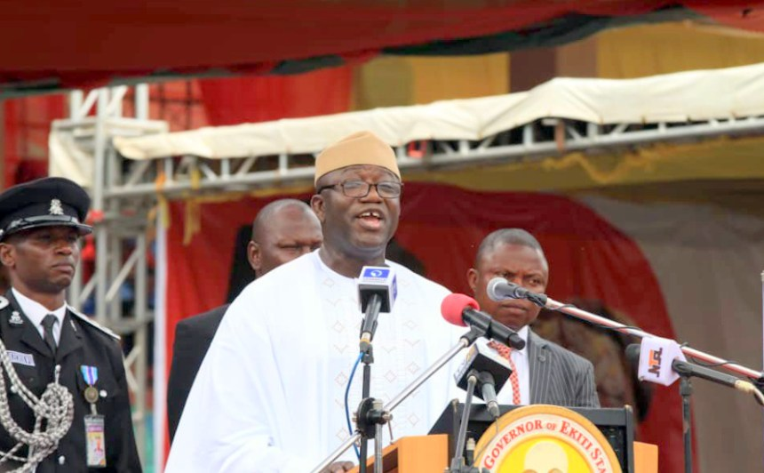 The Ekiti Governor, Kayode Fayemi. [PHOTO CREDIT: Official twitter handle of Kayode Fayemi.]
