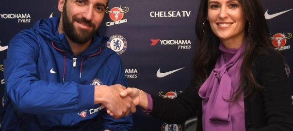 Gonzalo Higuain signs with Chelsea FC.