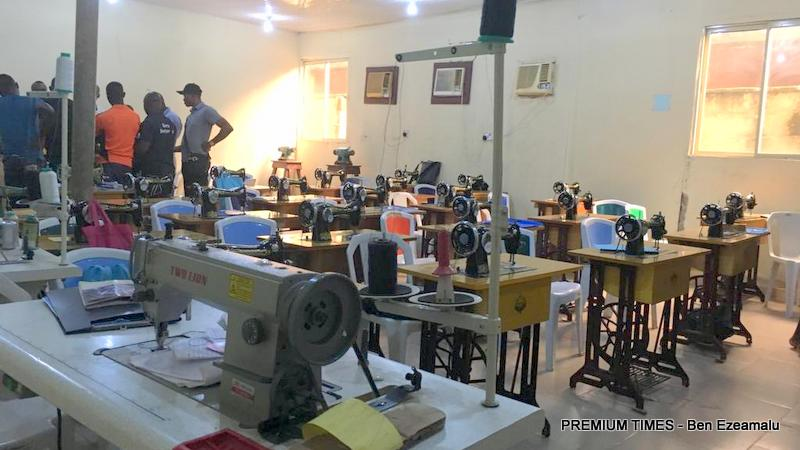 A tailoring class at the Fouzz Training Institute in Lagos