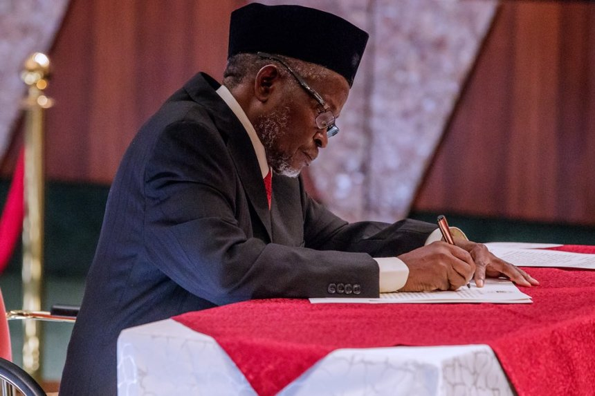 Ibrahim Tanko Mohammed. Chief Justice of Nigeria