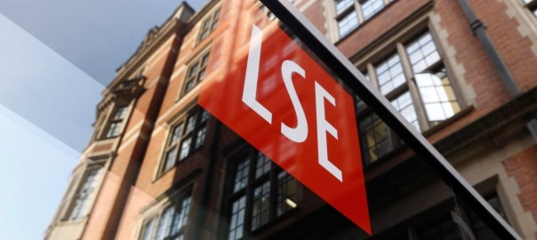 New signage on the rear entrance to LSE 32 Lincoln's Inn Fields in Portugal Street. [PHOTO CREDIT: Official website of the LSE]