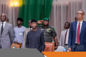 Vice President, Yemi Osinbajo with ministers at the event