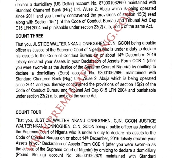 Code of Conduct Tribunal Trail on CJN Walter Onnoghen