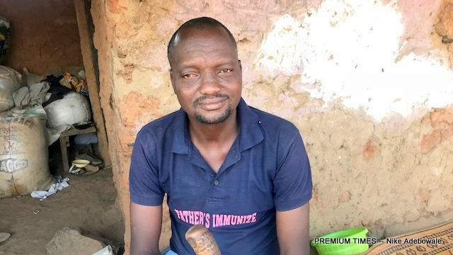 Muhammed Umar, Fatima's father and the chairman of Damangaza unofficial IDP camp.