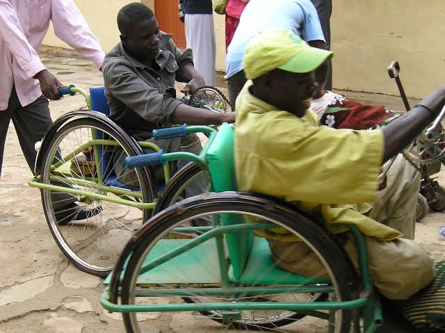 Persons with disability used to tell the story. [PHOTO CREDIT: Ventures Africa]