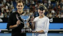 Roger Federer and Belinda Bencic of Switzerland win the Hopman Cup (Photo Credit: Sky Sports)
