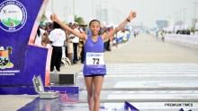 Meseret Dinke, won the women's marathon race