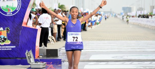 Meseret Dinke, won the women's marathon race