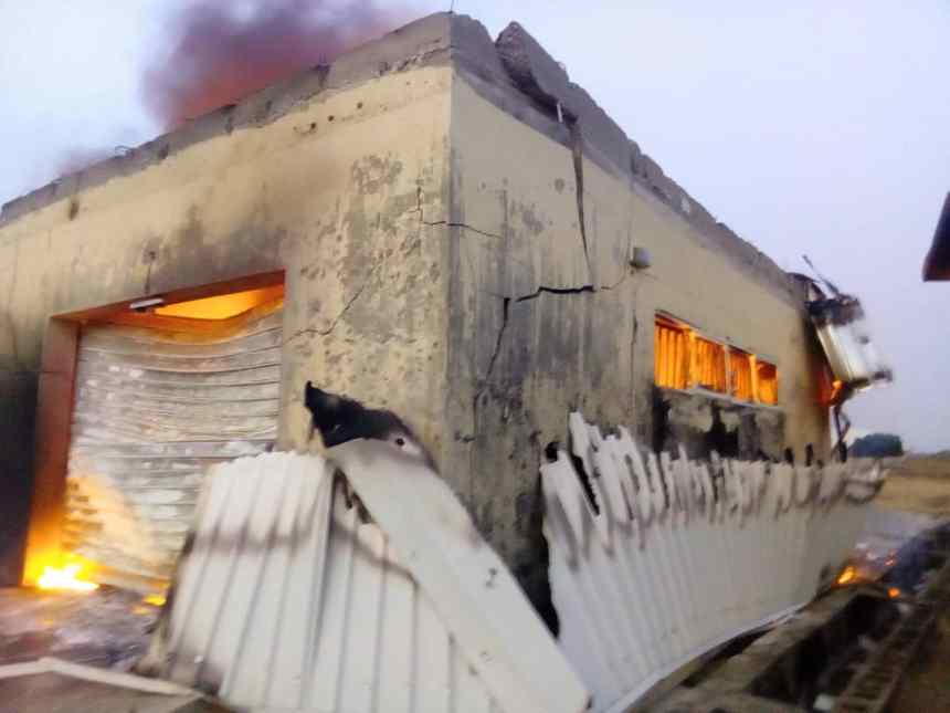 Plateau State INEC office in flames