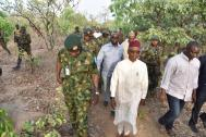 Kaduna State governor, Nasiru El-Rufai at Kajuru. [PHOTO CREDIT: Kaduna State Government]