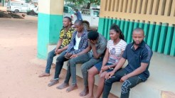 Police arrest five suspected kidnappers.