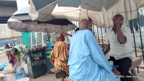 Shaving stands in Ijora Under Bridge