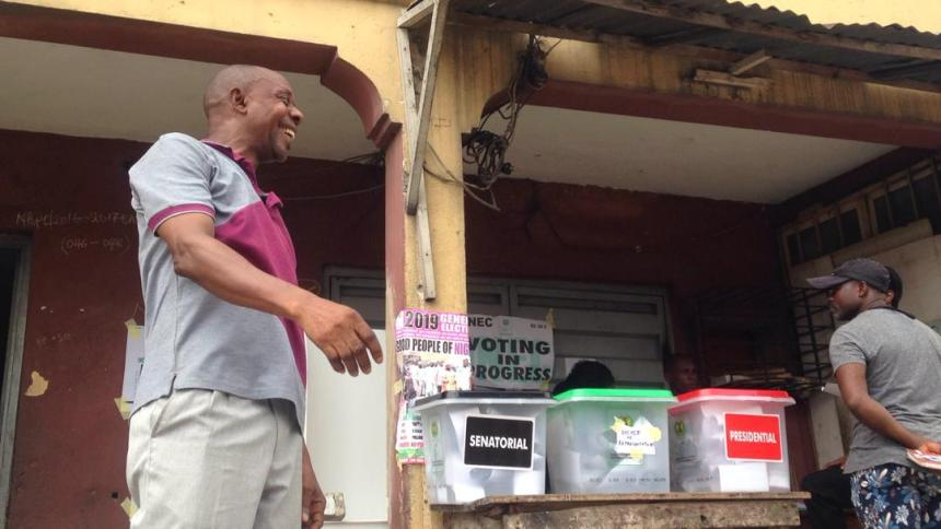 PU 012, Ward 02 Somolu Local Government Lagos East Senatorial District. Voting ends with an unsealed ballot box.