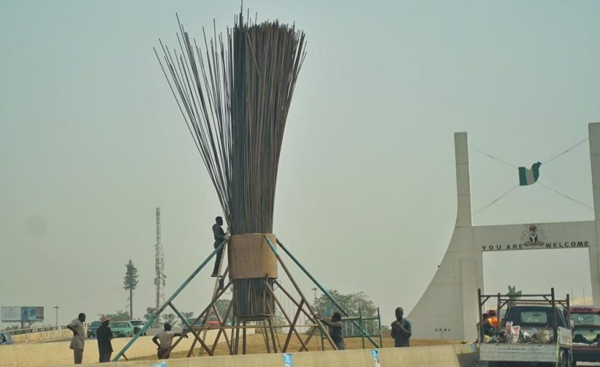 The gigantic broom at the Abuja city gate
