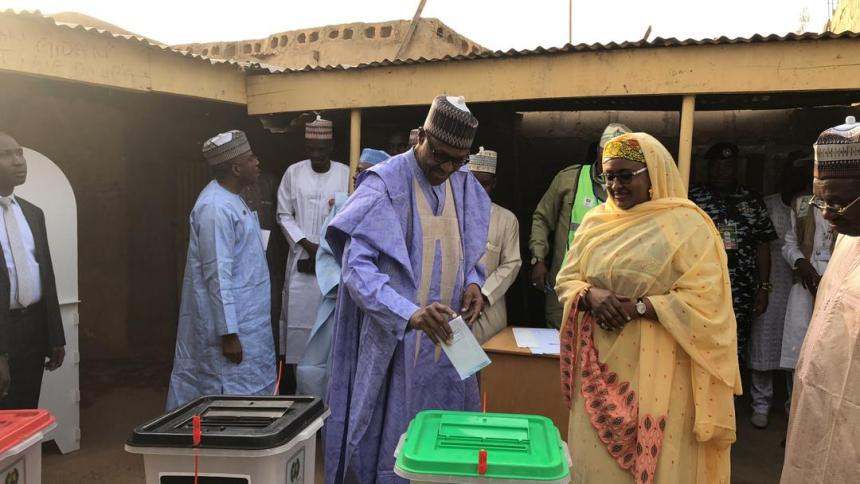 Buhari, first to vote in polling unt