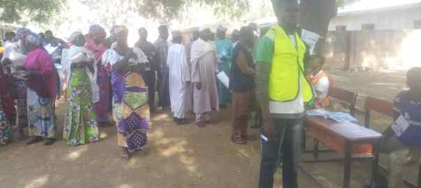 Gwazu 003 polling unit shuwa ward madagali local government area Adamawa state were the voters are in waiting to cast their vote