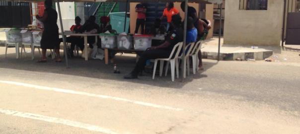 Time: 12:11am Polling Unit: 012 Ward: 05 - Mahin 3 Local Government: Ilaje Senatorial District/State: Ondo South Senatorial District/Ondo state Info: Elections are going on smoothly, the PO said. As at the time of visit however, there was no one on the queue. The PO revealed that he had exhausted almost three booklets of ballot paper, even though the election started a bit late. He also added that there were a few issues with the card reader, but all issues were resolved.