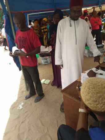 At 12: 28 pu 007, Rac 1, ibeju lekki local government lagos east election going on peacefully