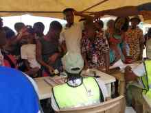 People voting in Adamawa
