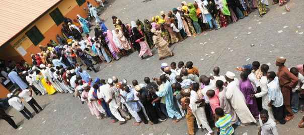 Nigerians get ready to cast their vote on February 16. EPA-EFE/Stringer