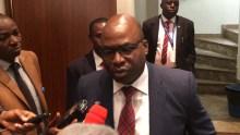 ICPC Chairman, Bolaji Owasanoye, speaking with State House correspondents