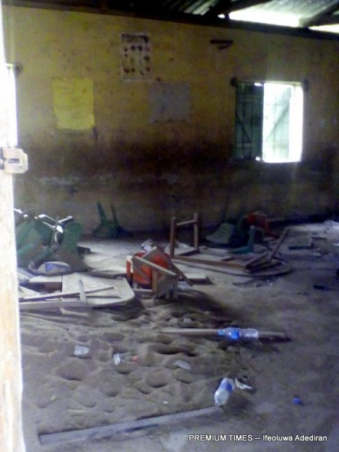 An abandoned classroom at Methodist School, Ewu-tuntun, Oshodi
