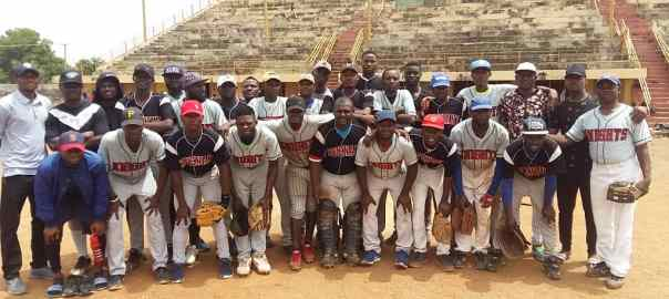 The Nigeria Baseball team during their training in Ilorin (Credit Nigeria Baseball and Softball Association).