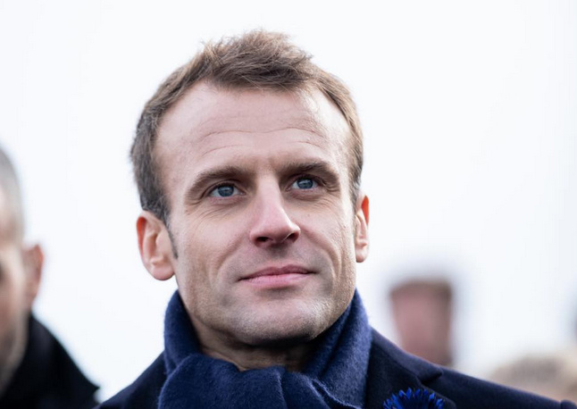 French President, Emmanuel Macron. [PHOTO CREDIT: Official Facebook page of Emmanuel Macron]