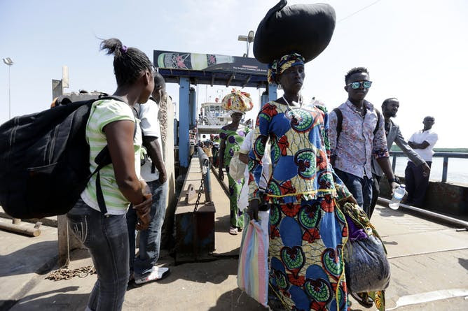 Gambian refugees return home from Senegal on January 21, 2017, the day Yahya Jammeh conceded defeat and left the country.