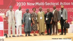 The Nigerian delegates at the conference led by the Development Research and Project Centre (DRPC) in collaboration with the National Institute for Policy and Strategic Studies (NIPPS)