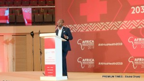 Githinji Gitahi, Group CEO, Amref HEalth Africa - one of the organisers of the conference - speaking at the opening ceremony on Monday