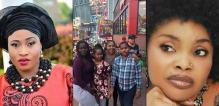 L-R Late Aisha Abimbola, her children and Lola Alao