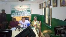 Lagos REC at the briefing