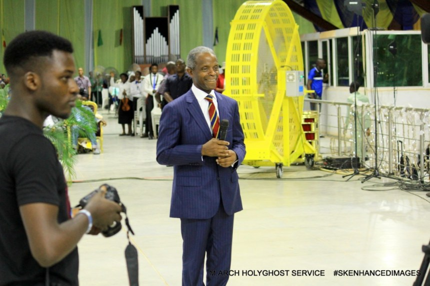 VP Yemi Osinbajo in RCCG Chapel