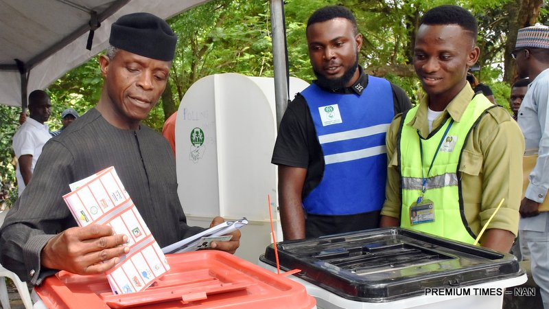 In Mr Osinbajo's home state of Ogun, the APC governorship candidate won at the VP's polling unit in Iperu, Ikenne.