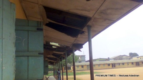 The front view of a building where pupils learn at Methodist School, Ewu-tuntun, Oshodi