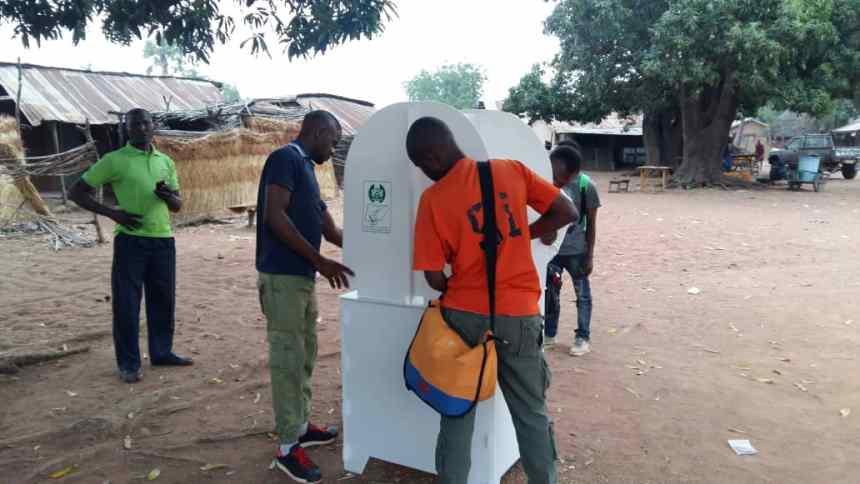 At 6:38 INEC officials just arrived with sensitive materials at polling Unit Ajikamai ward Kurumbui Shendam LGA Plateau state