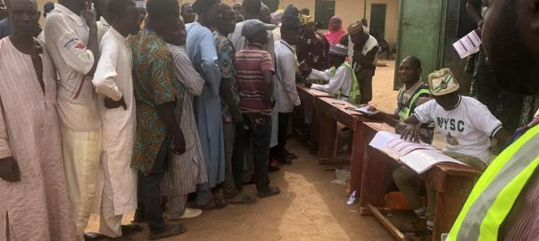 Voting going on smoothly at PU002 in Atawa village, Rimin Gado local hovernment area Kano. This is contrary to reports we recevied earlier that no election is holding in the area