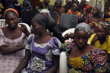 Chibok schoolgirls freed from Boko Haram captivity shown in Abuja, Nigeria in 2017. [Photo: Olamikan Gbemiga/AP]
