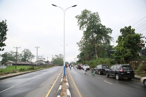 The road constructed by Delta State Governor, Ifeanyi Okowa