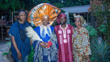 L-R Ade Bakare, Founder, Ade Bakare Couture, UK; Nike Okundaye, Curator General, Nike Art Gallery; Olutayo Irantiola, and Iyabode Aboaba, Chief Operations Officer (COO), Freedom Park during Yoruba Lakotun held at Freedom Park over the weekend.