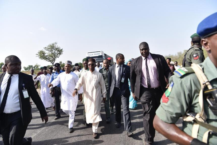 El-Rufai's convoy caught up in a Kidnapping operation on Kaduna-Abuja road